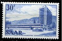 Picture of Саар 1952-55 гг. Mi# 332 • 30 fr. • Основной выпуск (архитектура и промышленность) • MLH OG XF