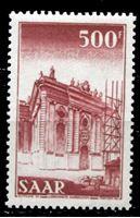 Picture of Саар 1952-55 гг. Mi# 337 • 500 fr. • Основной выпуск (архитектура и промышленность) - концовка • MLH OG XF ( кат.- €20 )