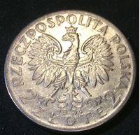 Изображение Польша 1934 г. • KM# 20 • 2 злотых • (серебро) • регулярный выпуск • XF+