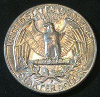 Picture of США 1962 г. D • KM# 164 • квотер(25 центов) • Джордж Вашингтон • Американский орел • регулярный выпуск • MS BU