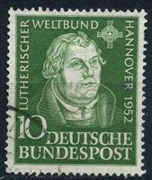 Изображение Германия ФРГ 1952 г. Mi# 149 • 10 pf. • Лютеранский конгресс в Ганновере • Used XF ( кат.- €6 )