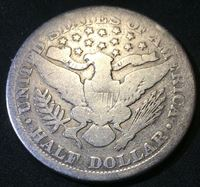 "Picture of США 1900 г. • KM# 116 • полдоллара • ""Цирюльник"" (серебро) • регулярный выпуск • VG"