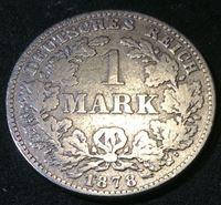 Изображение Германия 1878 г. • KM# 7 • 1 марка • (серебро) • Имперский орел • регулярный выпуск • F-