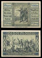 Изображение Германия •  Глогау 1920 г. • 75 пфеннигов • батальная сцена • локальный выпуск • UNC пресс