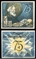 Picture of Германия •  Йена 1921 г. • 75 пфеннигов • старик и череп • локальный выпуск • UNC пресс