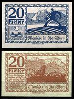 Picture of Австрия •  Мондзее 1920 г. • 20 геллеров • горное пастбище • локальный выпуск • UNC пресс