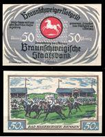 Bild von Германия •  Брауншвейг 1923 г. • 50 пфеннигов • скачки • локальный выпуск • UNC пресс