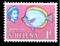 Picture of Святой Елены о-в 1961-65 гг. Gb# 176 • Елизавета II основной выпуск • 1d. • Рыба • MNH OG XF