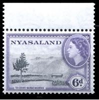 Picture of Ньясаленд 1953-1954 гг. Gb# 180 • 6d. • чайные плантации • MNH OG XF+