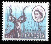 """Picture of Родезия 1967-1968 гг. Gb# 408 • 3d. и 2 1/2c. • переходная серия """"двойной номинал"""" • MNH OG XF+"""
