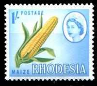 Picture of Родезия 1966 г. Gb# 380 • Елизавета II основной выпуск • 1sh. • початок кукурузы • MNH OG XF+