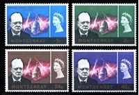 Picture of Монтсеррат 1966 г. Gb# 179-82 • Уинстон Черчилль • MNH OG • полн. серия