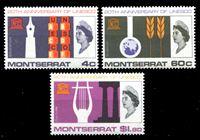 Bild von Монтсеррат 1966 г. Gb# 187-9 • 20-летие ЮНЕСКО • MNH OG • полн. серия