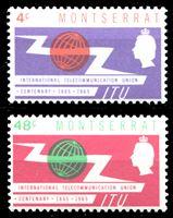 Bild von Монтсеррат 1965 г. Gb# 158-9 • 100-летие ВТС(ITU) • MNH OG • полн. серия