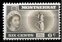 Picture of Монтсеррат 1953-62 гг. Gb# 142 • Елизавета II основной выпуск • 6c. • Символ государственности • MNH OG XF