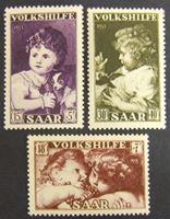 Picture of Саар 1953 г. Mi# 344-346 • Картины детей • MH OG XF ( кат.- €14 )