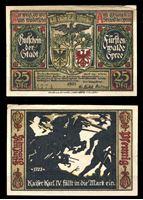 Picture of Германия •  Фюрстенвальде 1921 г. • 25 пфеннигов • Герб города и сцена из битвы 1373 года • локальный выпуск • AU