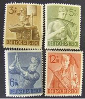 Image de Германия 3-й рейх 1943 г. Mi# 850-853 • 8 лет тркдовой повинности • MLH OG XF ( кат.- €4 )
