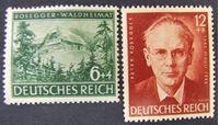 Image de Германия 3-й рейх 1943 г. Mi# 855-856 • 100 лет со дня смерти писателя П. Розеггера • MLH OG XF ( кат.- €2 )