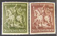 Image de Германия 3-й рейх 1943 г. Mi# 855-856 • Немецкая гильдия золотых дел мастеров. • MLH OG XF ( кат.- €1,5 )