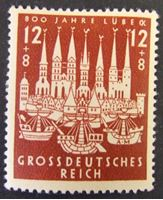 Image de Германия 3-й рейх 1943 г. Mi# 862 • 800 лет городу Любек • MLH OG XF ( кат.- €1 )