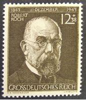 Image de Германия 3-й рейх 1944 г. Mi# 863 • 100 лет со дня рождения Р. Коха • MLH OG XF ( кат.- €1 )