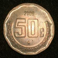 Bild von Мексика 2008 г. • KM# 549 • 50 сентаво • регулярный выпуск • MS BU