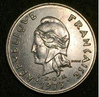 Изображение Французская Полинезия 1973 г. • KM# 8 • 10 франков • регулярный выпуск • MS BU
