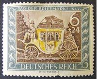 Image de Германия 3-й рейх 1943 г. Mi# 828 • День почтовой марки 1943 • MLH OG XF ( кат.- €1 )