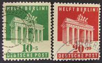 Image de Германия • Англо-Американская зона оккупации 1949 г. Mi# 101-102 • Помощь Берлину. Бранденбургские ворота • Used XF ( кат.- €18 )