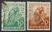 Image de Германия • Англо-Американская зона оккупации 1949 г. Mi# 106-107 • Велегонка по Германии • Used VF ( кат.- €28 )
