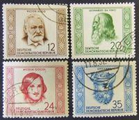 Image de ГДР 1952 г. Mi# 311-314 • Известные творческие люди • Used XF ( кат.- €45 )