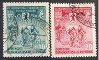 Image de ГДР 1955 г. Mi# 470-471 • Международная велогонка мира 1955 • Used XF ( кат.- €3,5 )