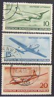 Image de ГДР 1956 г. Mi# 513-515 • Начало полетов гражданской авиации в ГДР • Used XF ( кат.- €3 )