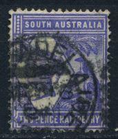 Bild von Австралия • Южная Австралия 1894-1906 гг. Gb# 234 • 2 1/2d. • королева Виктория, кенгуру (перф. - 15) • Used VF ( кат.- £5 )