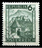 Изображение Австрия 1945-46 гг. SC# 458 • 6h. • Виды страны, крепость Хоензальцбург • Used XF