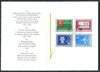 Picture of Швейцария 1960 г. Mi# 692-5 • события и юбилеи • Used(ФГ) XF • полн. серия • буклет ( кат.- €15 )