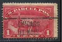 Изображение США 1913 г. SC# Q1 • 1c. • почтовый клерк за работой (предгашение Чикаго) • спец. доставка • Used VF ( кат.- $2 )