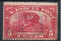 Изображение США 1913 г. SC# Q5 • 5c. • паровоз • спец. доставка • Used F ( кат.- $3 )