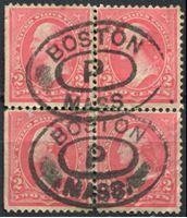 Image de США 1895 г. SC# 267 • 2c. • Джордж Вашингтон • стандарт • Used F • кв.блок