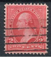 Image de США 1895 г. SC# 267 • 2c. • Джордж Вашингтон • стандарт • Used F