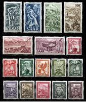 Изображение Саар 1949-51 гг. Mi# 272-88 • Достопримечательности и промышленность • MLH OG XF • полн. серия ( кат.- €65 )