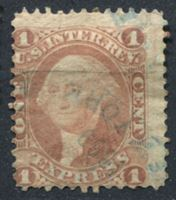 Image de США 1862-71 гг. SC# R1c • 1c. • Экспресс услуги • фискальный выпуск • Used VF