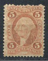 Image de США 1862-71 гг. SC# R27c • 5c. • Товарообменные операции • фискальный выпуск • Used VF