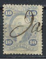 Image de США 1862-71 гг. SC# R34c • 10c. • для контрактов • фискальный выпуск • Used VF