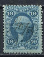 Image de США 1862-71 гг. SC# R37c • 10c. • для доверенностей • фискальный выпуск • Used VF