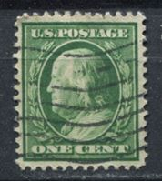 Picture of США 1910-11 гг. SC# 374 • 1c. • Бенджамин Франклин • стандарт • Used VF