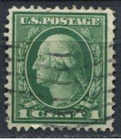 Изображение США 1912-14 гг. SC# 405 • 1c. • Джордж Вашингтон • стандарт • Used VF