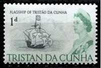 Image de Тристан да Кунья 1965-67 гг. Gb# 72 • Елизавета II основной выпуск • 1d. • флагман флотилии Тристана да Куньи • MLH OG XF