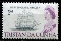 Image de Тристан да Кунья 1965-67 гг. Gb# 74 • Елизавета II основной выпуск • 2d. • американское китобойное судно XIX века • MLH OG XF